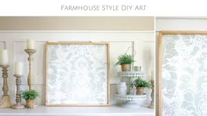 Powder Room Stencil How To Make Your Own Farmhouse Style Diy Stencil Art Youtube