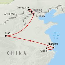Map Of The Great Wall Of China by Beijing To Shanghai 9 Day Group Tour On The Go Tours