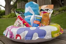summer gift basket practically living summer floatie gift basket