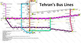 Metro Orange Line Map by Tehran Brt Bus Map 2017
