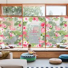 gorgeous flamingo flower garden wall stickers for kids rooms store