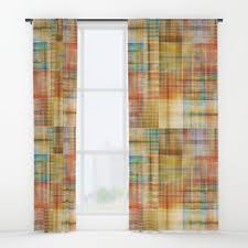 Multi Colored Curtains Shibori Window Curtains Society6