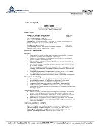 Format Of Resume 63 Resume Format Skills High Resume Sample Skills Sample