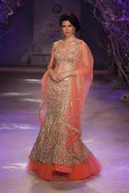New Pakistani Bridal Dresses Collection 2017 Dresses Khazana Peach Mermaid Fish Cut Bridal Lehenga Indian Wedding Dresses