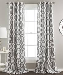 Curtain Panels Amazon Com Lush Decor Edward Trellis Room Darkening Window