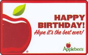 applebee s gift cards gift card happy birthday applebee s united states of america