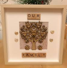wedding gift anniversary wedding gift anniversary gift engraved family tree with pets
