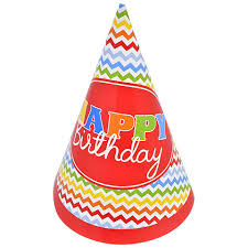 happy birthday hat bulk colorful chevron happy birthday party hats 8 ct packs at