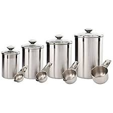 stainless steel canisters kitchen kitchen food storage canister set for ideahome