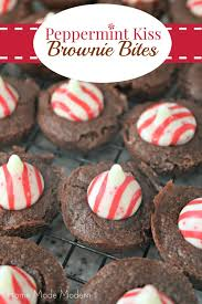 peppermint kiss brownie bites bloggers best pinterest