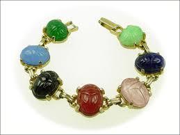 antique bracelet vintage images Sleek vintage bracelets coro murano glass etruscan charm fob jpg