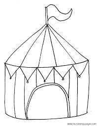 circus tent coloring circus crafts