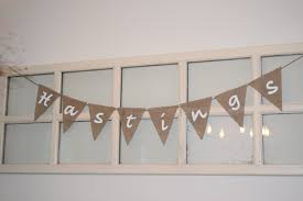 personalize burlap bunting banner home decor wedding decor custom