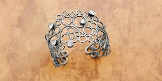 ring cuff bracelet images Rings around your wrist airy jump ring cuff bracelet by eva sherman jpg