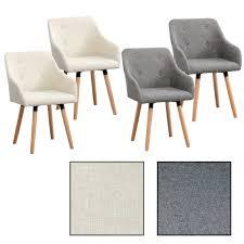 Esszimmerstuhl Grau Filz 6 Esszimmerstühle Mit Stoffbezug Design