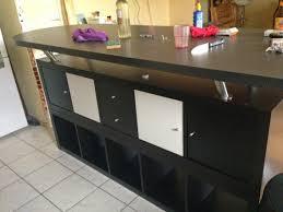 plan pour fabriquer un ilot de cuisine table de bar avec kallax bidouilles ikea inside plan pour fabriquer
