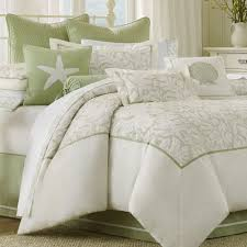 Grey Themed Bedroom by White Bedding Sets With Green Pillows And White Bed On Grey Rug Of