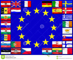 Flags Countries Flags Of Countries Belonging To The European Union Stock Image