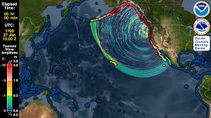 Oregon Tsunami Map by Tsunami Forecast Model Animation Cascadia 1700 Youtube