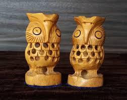 carved wood owl etsy