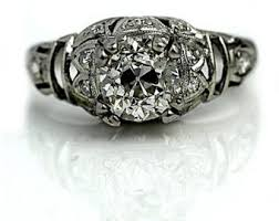 1920s engagement rings 1920 s plantinum diamond rings wedding promise diamond