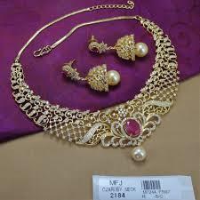 necklace choker design images Cz ruby stones leaves flowers design choker necklace set buy jpg