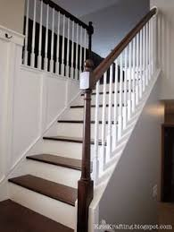 Staircase Banister Before And After A Stair Banister Renovation Stair Banister