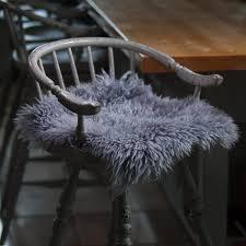 Sheepskin Rug Ikea Furniture Sheepskin Chair With Cushy Comfort And Modern Style