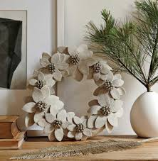 expect the unexpected in this season s holiday decor appliques have been news in home design especially lending dimension to decorative pillows in this wreath 39 from west elm natural linen flowers give