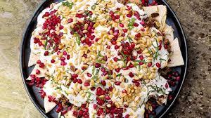 canape ideas nigella nigella lawson s beef and aubergine fatteh recipe nigella lawson