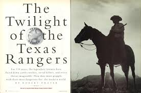 Special Power Of Attorney Texas by The Twilight Of The Texas Rangers