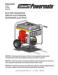 coleman powermate 5500 generator manual documents