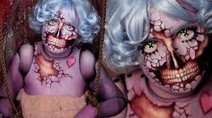 halloween blood background bloody broken doll halloween makeup tutorial youtube