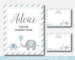 to be advice cards blue elephant advice for to be cards and sign elephant baby