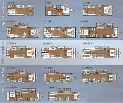 travel trailer bunkhouse floor plans of including prowler images
