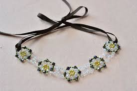 flower bead necklace images How to make a charming glass beaded flower statement necklace with jpg