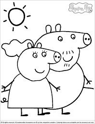 peppa pig coloring pages sun flower pages
