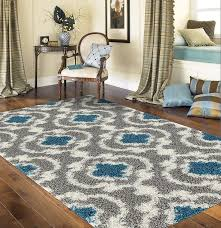 Teal Shag Area Rug Amazon Com Rugshop Cozy Moroccan Trellis Indoor Shag Area Rug 7