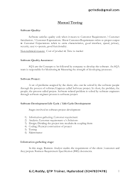 Manual Testing Experience Resume Sample by Manual Testing Resume Format Samples Resume Format