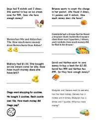 money word problems grade 2 word problems grade 2 and money