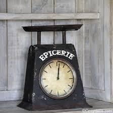 horloges cuisine horloge balance style vintage à poser cosydeco com horloge cuisine