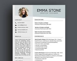 Interesting Resume Template Creative Resume Etsy