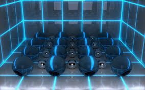 wallpaper digital art 3d balls neon hd picture image