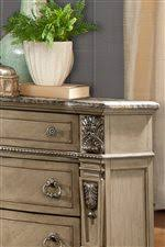 davis direct monaco traditional nightstand with laminated marble
