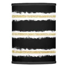 black and gold lamp shades zazzle