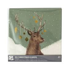 national trust dressed for christmas cards pack of 10 from