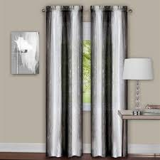 Black And Gray Curtains Sacada Crushed Black And White Ombre Curtains