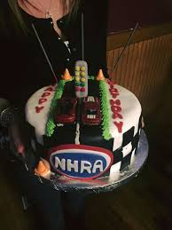 celebrate a drag racing birthday with this nhra themed dragstrip