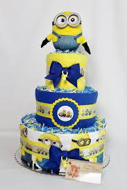 diper cake baby cake shower gift minion inspired