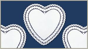heart doily shop 10 paper doily heart rosy design in white on